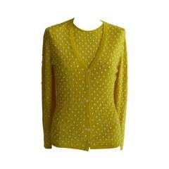 Beautiful and Luxurious Oscar de la Renta Sequined Cashmere/Silk Twin Set