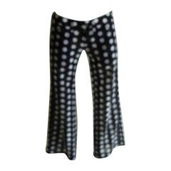 Juya Watanabe CDG Sheer B & W Polkadot Flared Pants