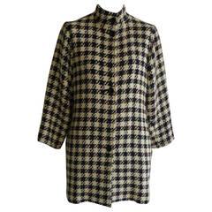 1980s Ungaro Parallele Woven Wool Coat (10 US)