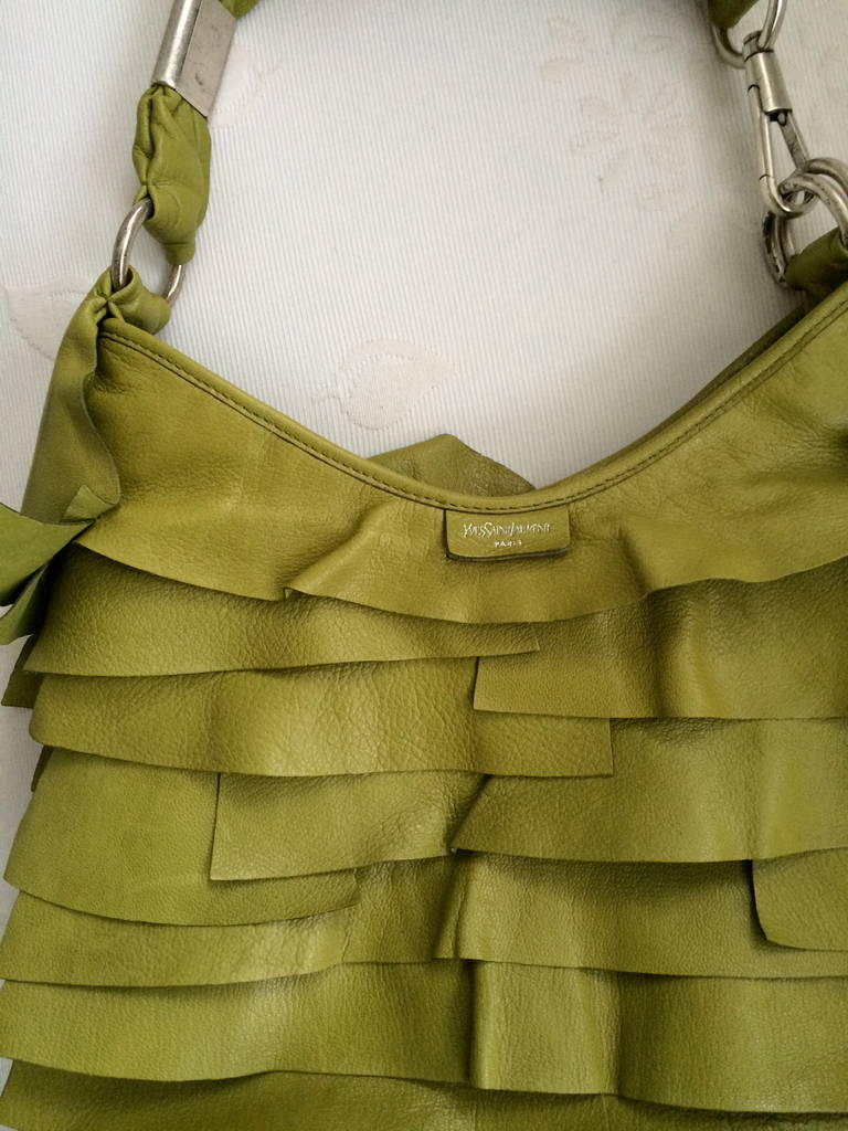 Yves Saint Laurent Ruffled St. Tropez Bag at 1stdibs