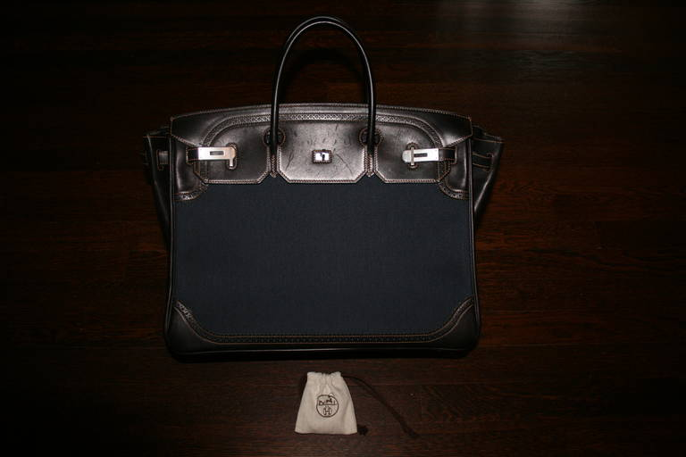 9e3bd5c6d9 Limited Edition 2013 (Q) HERMES Birkin Denim Ghillies 40cm Bag - Never  Used! Although a 2013