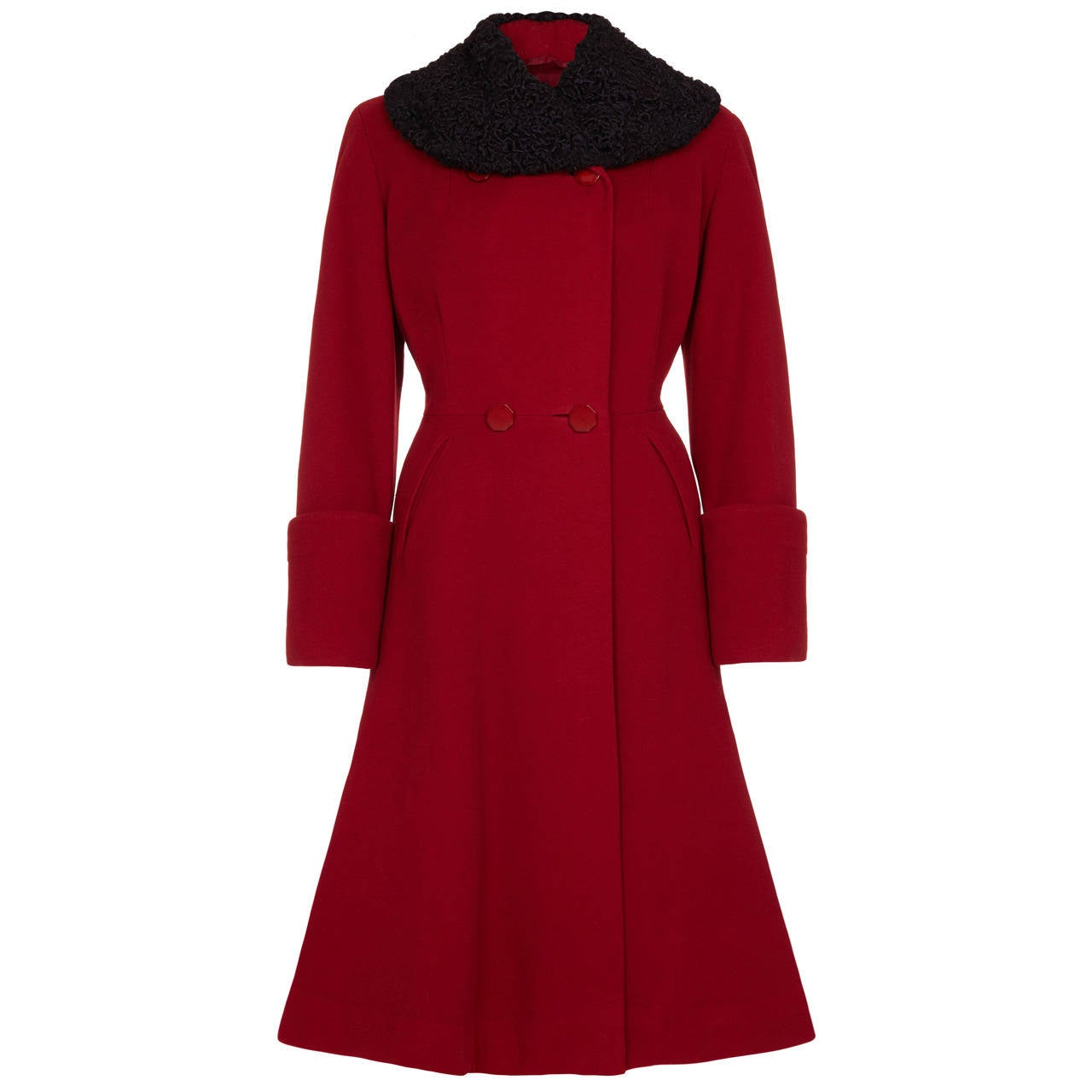 1940s Red Wool Coat 1