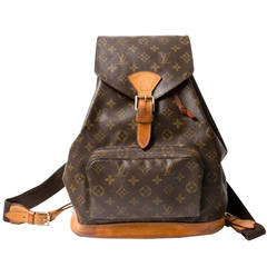 Louis Vuitton Vintage Brown Monogram Canvas Backpack MM
