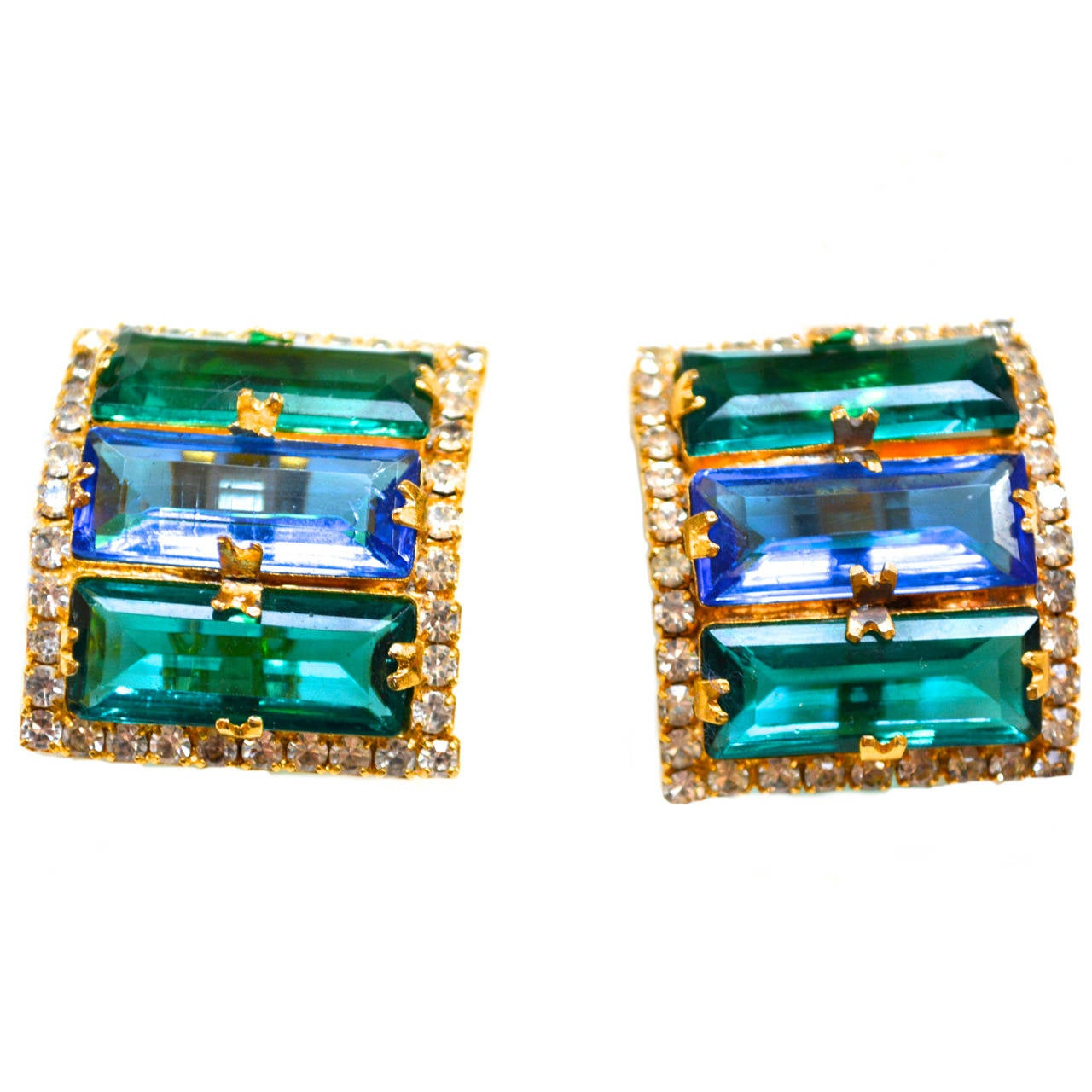 William De Lillo Glam Earrings For Sale