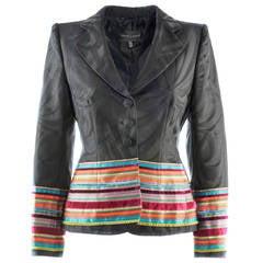 Rena Lange Black & Multicolor Wool Jacket