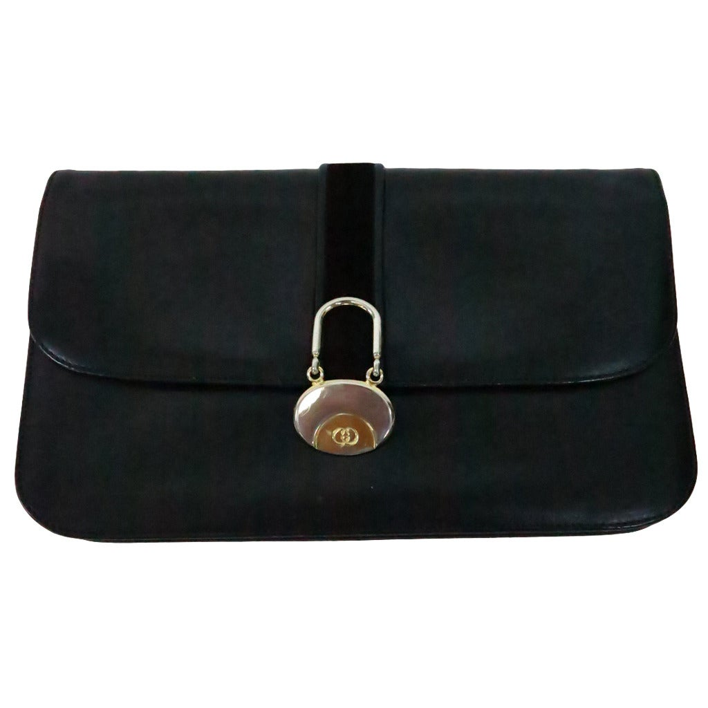 1stdibs Spring! Extreme Clutch In Black Patent With Great Lining XQwnjvh