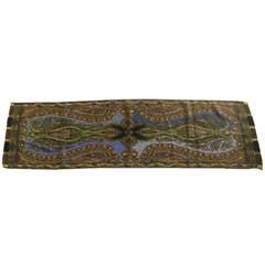 ETRO Wool/Silk Long Paisley Scarf