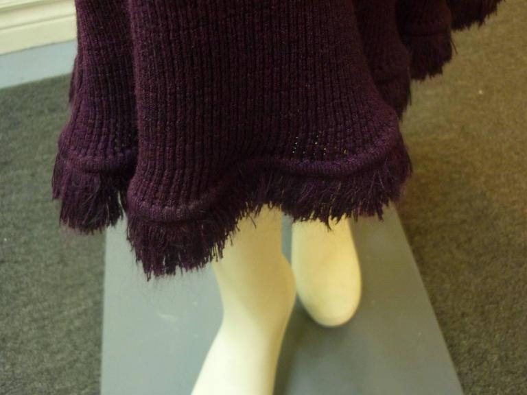 Black John Galliano Long Knit Skirt, 1990s  For Sale