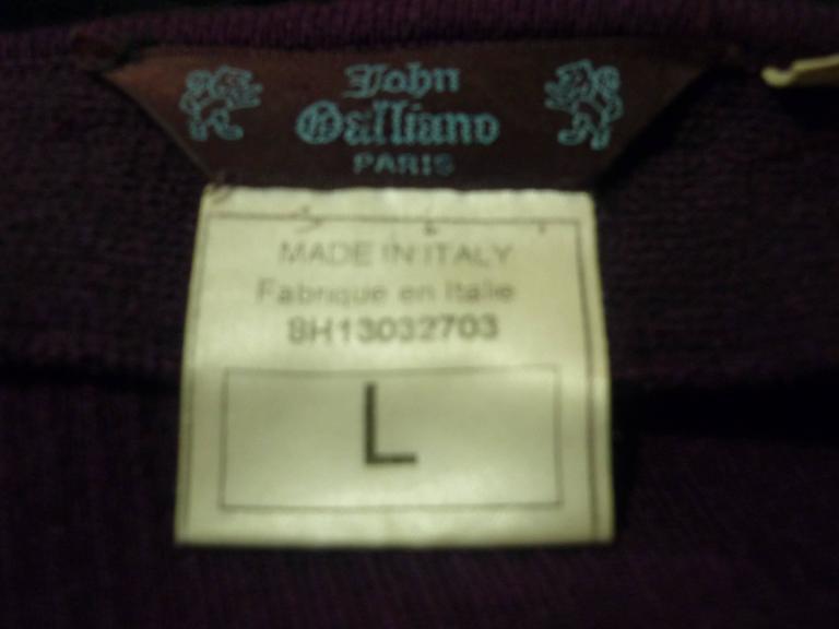 John Galliano Long Knit Skirt, 1990s  For Sale 1