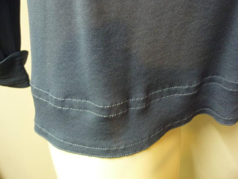 Women's 1980s Jean Muir Blue Top/Tunic (8) For Sale
