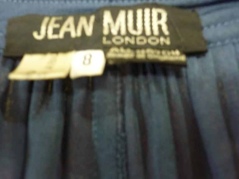 1980s Jean Muir Blue Top/Tunic (8) For Sale 2