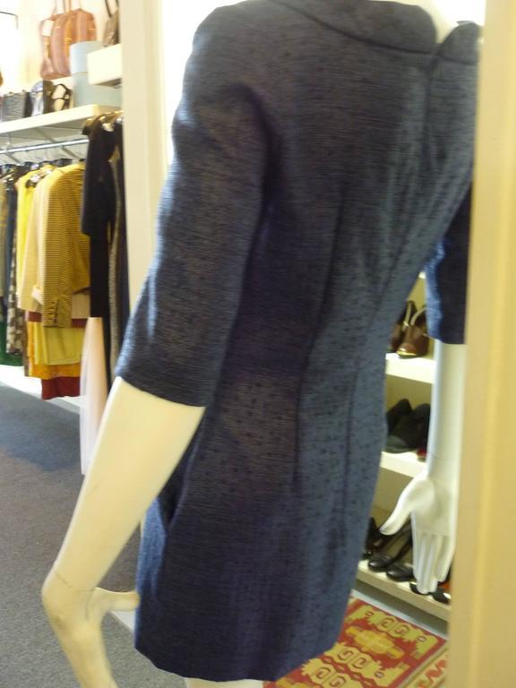 Black Douglas Hannant Tussah Silk Tunic/Mini Dress (2) For Sale