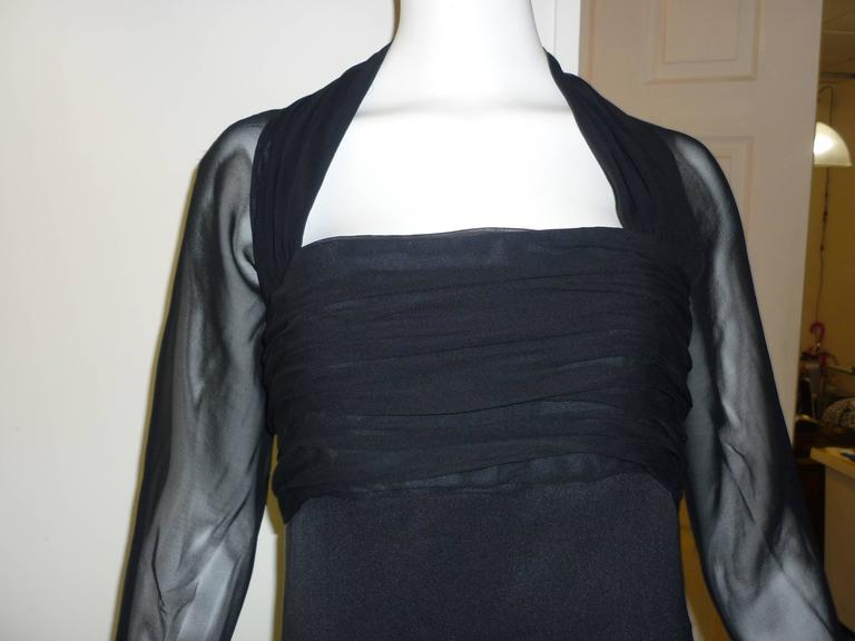 Women's 1980s Jarin by Ruben Pannis Delightful Little Black Dress (10) For Sale