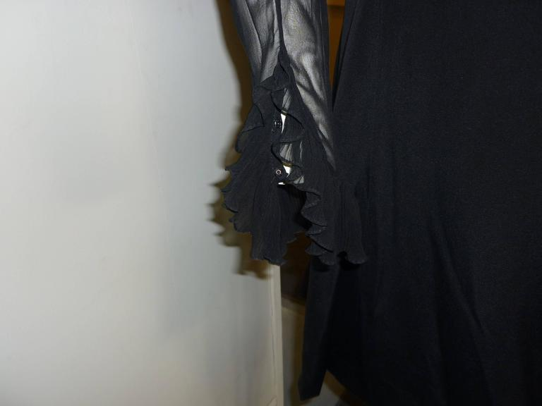 1980s Jarin by Ruben Pannis Delightful Little Black Dress (10) In Excellent Condition For Sale In Port Hope, ON