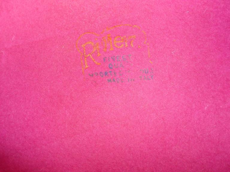 Richard Original Pink Felt Hat, 1950s  For Sale 1
