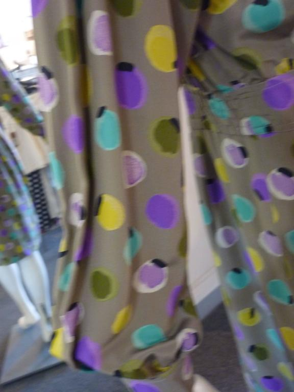 1990s Valentino Miss V Silk Dress (46 Itl) For Sale 1