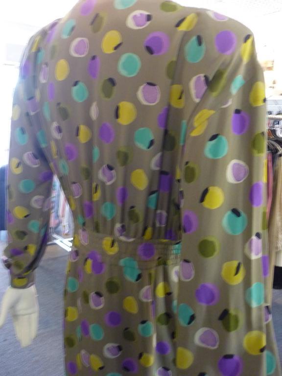Women's 1990s Valentino Miss V Silk Dress (46 Itl) For Sale