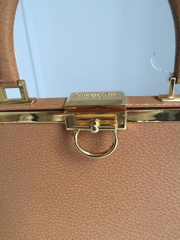 Brown Elegant Christian Dior Tan Bag For Sale