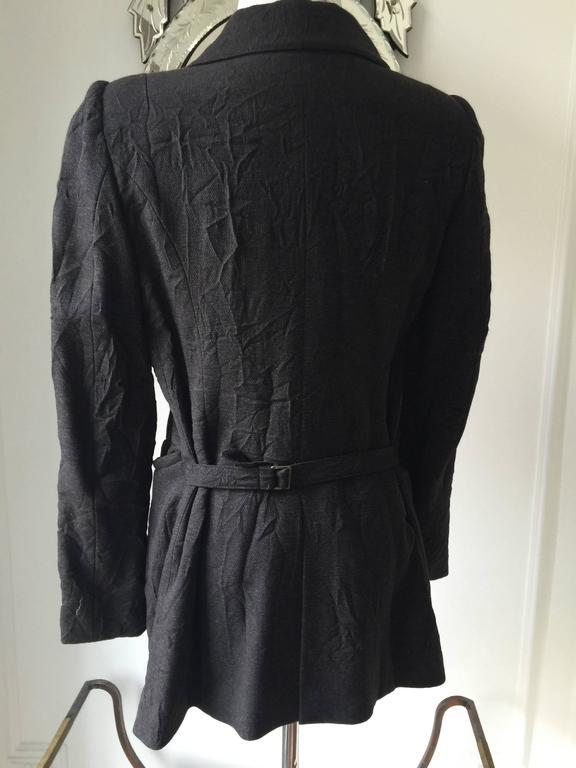 Ann Demeulemeester Crinkled Wool Jacket 38 2