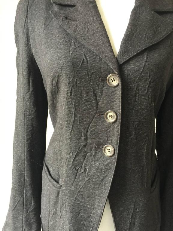 Ann Demeulemeester Crinkled Wool Jacket 38 3