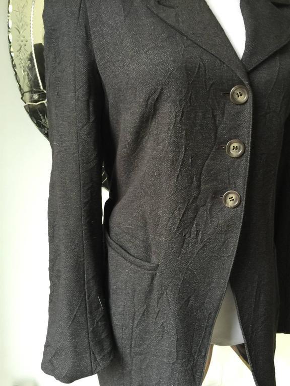 Ann Demeulemeester Crinkled Wool Jacket 38 4