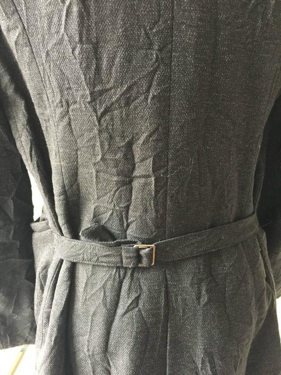 Ann Demeulemeester Crinkled Wool Jacket 38 5