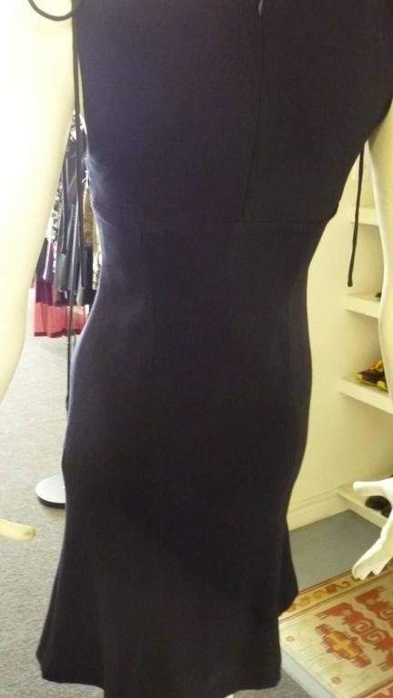 Women's 1990s Valentino Light Wool Navy Blue Dress (s) For Sale