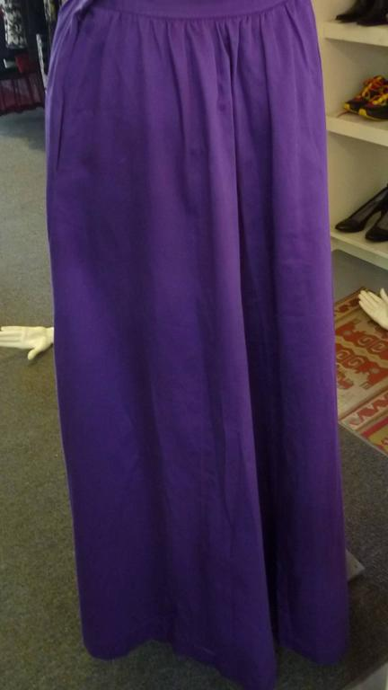 1980s Yves Saint Laurent RG Maxi Skirt 4