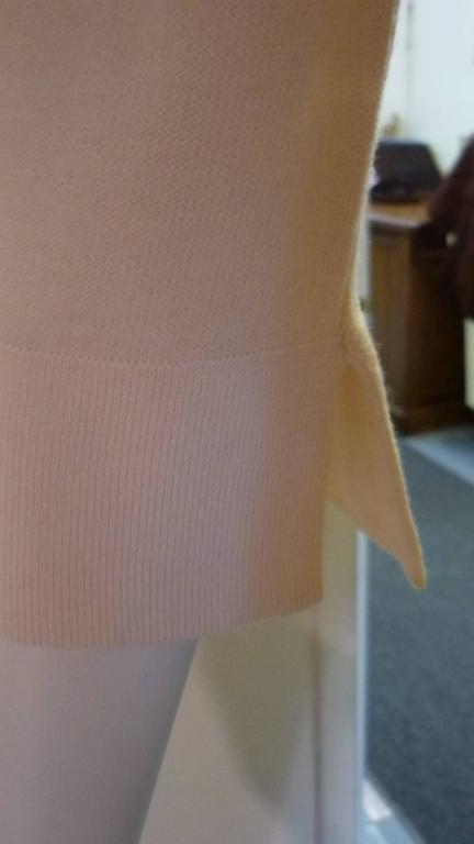 Sonia Rykiel Cream with Pink Stripes Wool Sweater (42 ITL) For Sale 1
