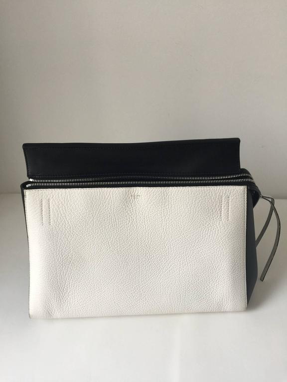 Women's Celine Black and White Medium Edge Bag For Sale
