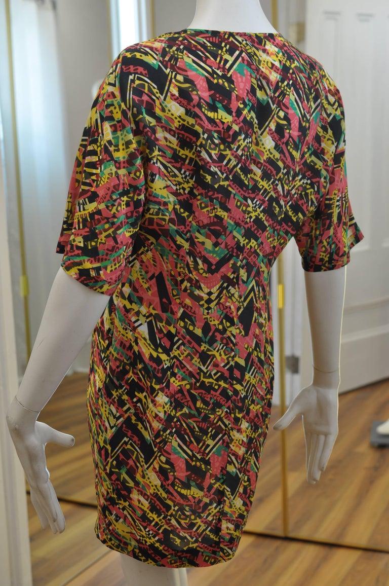 M. Missoni Abstract Print Silk Dress (40 ITL) NWT  For Sale 1