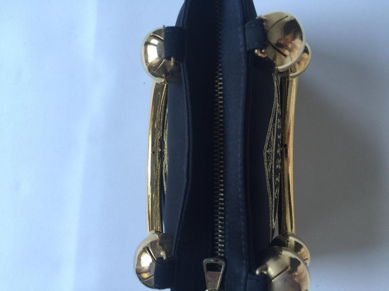 ae630490b8 Vintage Gianni Versace Satin Evening bag For Sale 2