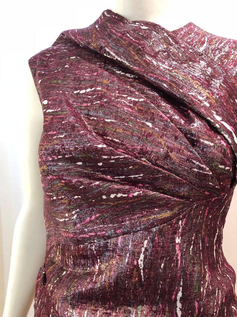 Ports 1961 Draped Shimmering Dress (2) For Sale 1