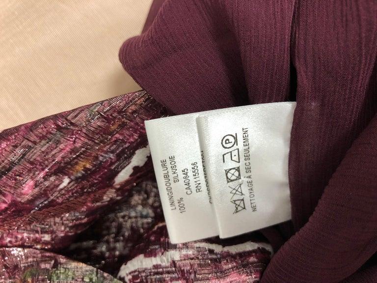 Ports 1961 Draped Shimmering Dress (2) For Sale 3