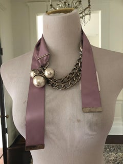 Christian Dior Necklace with silk Ribbon