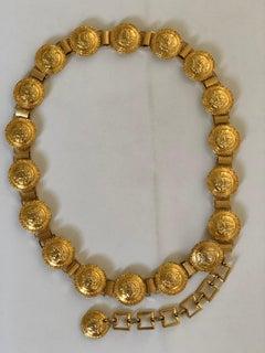 Gianni Versace Gold Medusa Belt