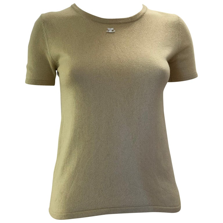1970s Andre Courreges Silk and Cashmere Top
