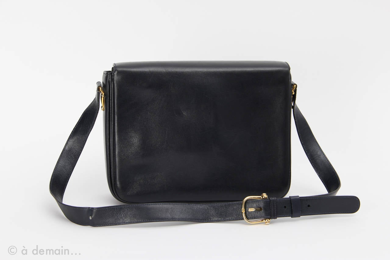 Celine blue Handbag from the 1960s at 1stdibs