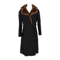 1960s Kasty Coat made of astrakan and mink