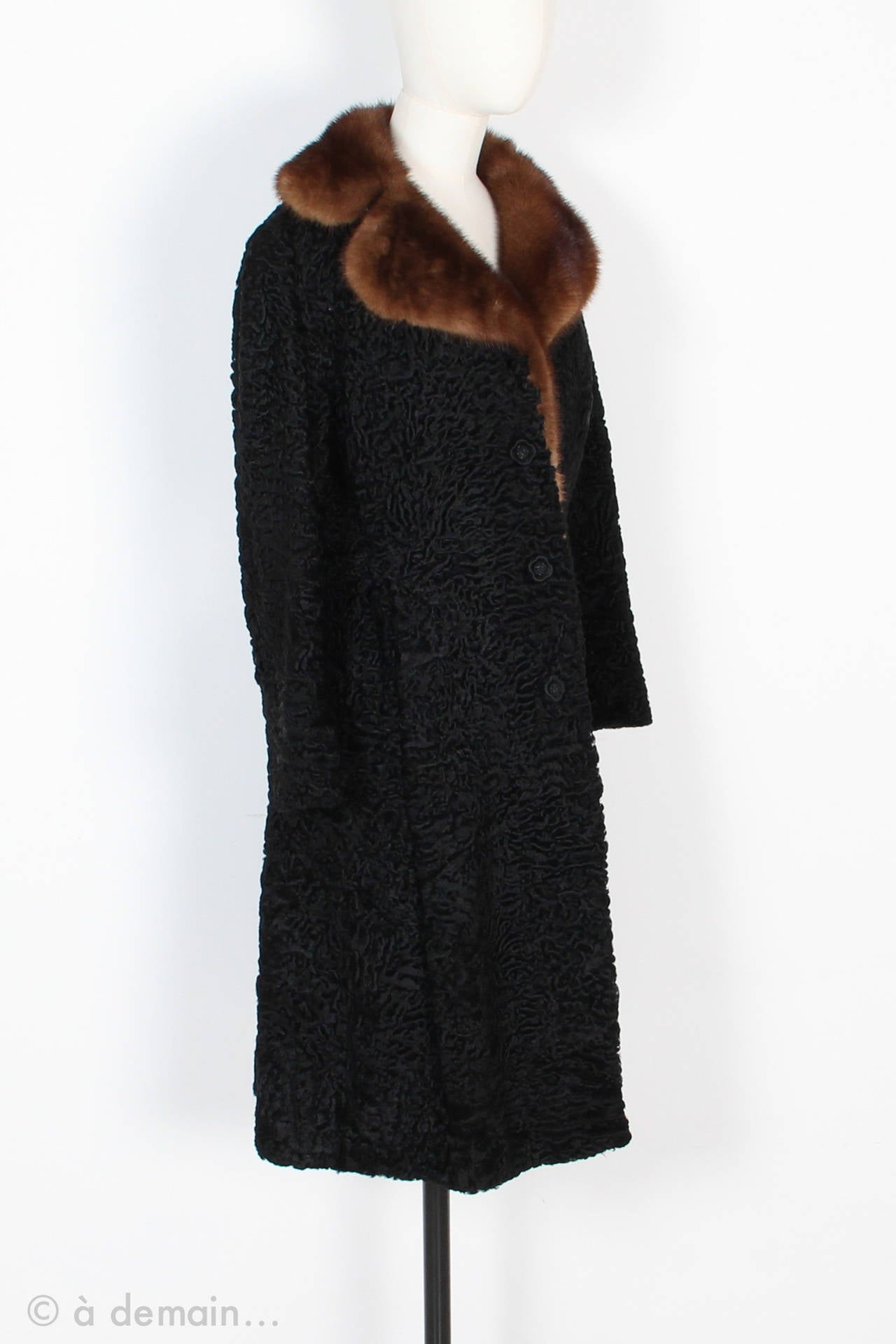 1960s Kasty Coat made of astrakan and mink 2