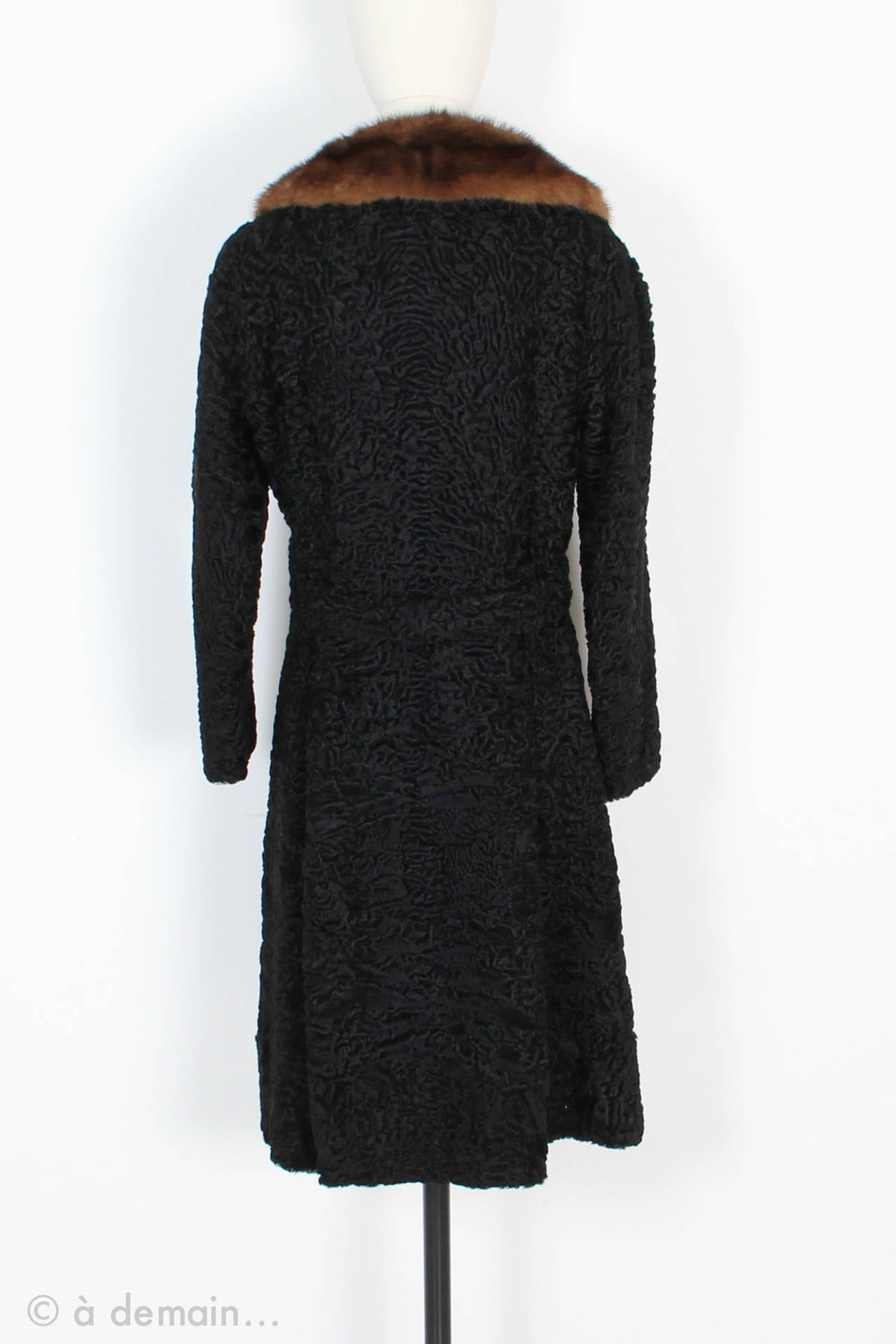 1960s Kasty Coat made of astrakan and mink 3