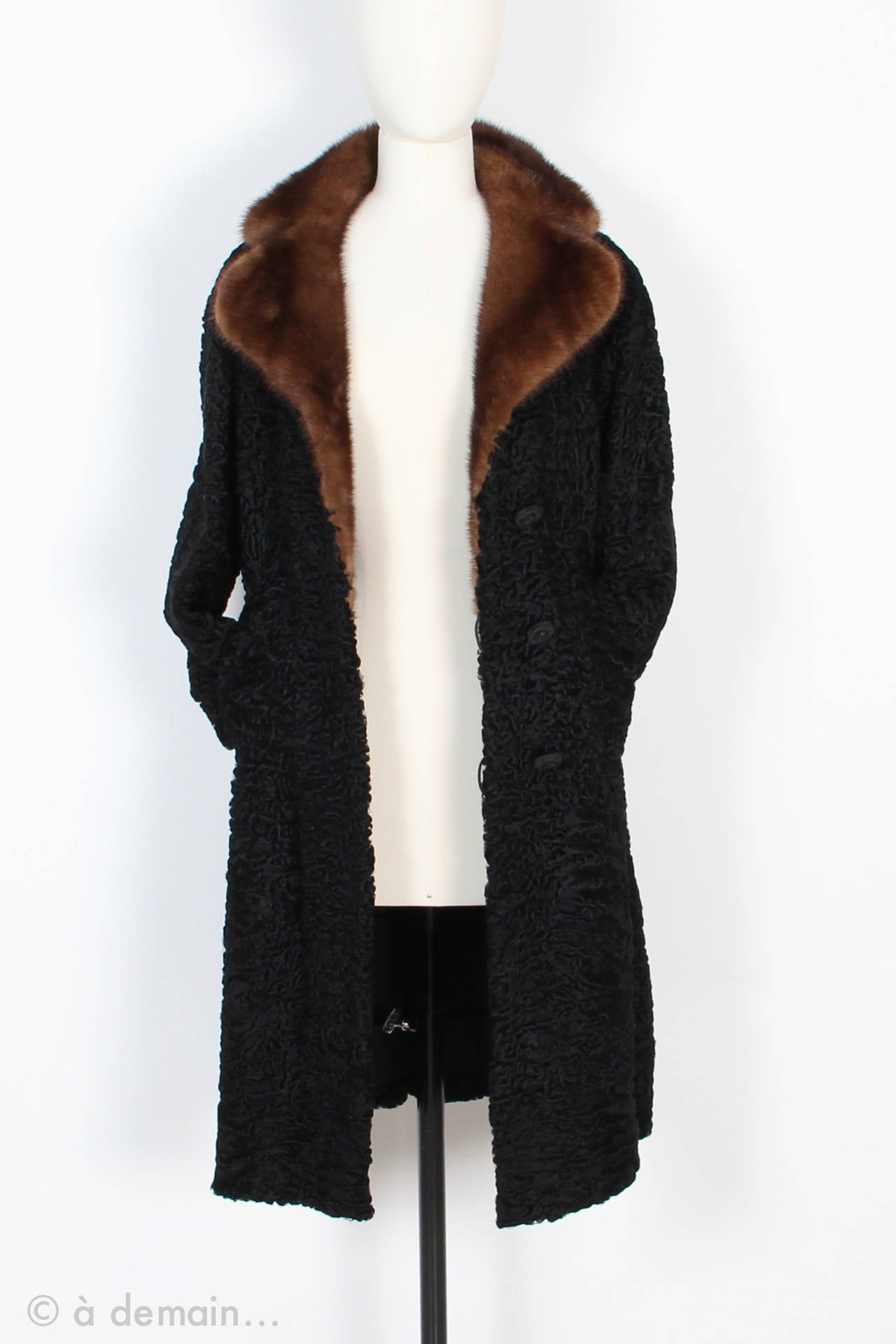 1960s Kasty Coat made of astrakan and mink 5