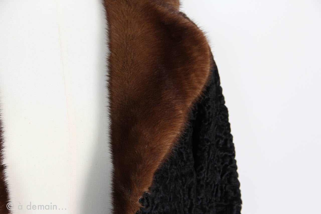 1960s Kasty Coat made of astrakan and mink 6