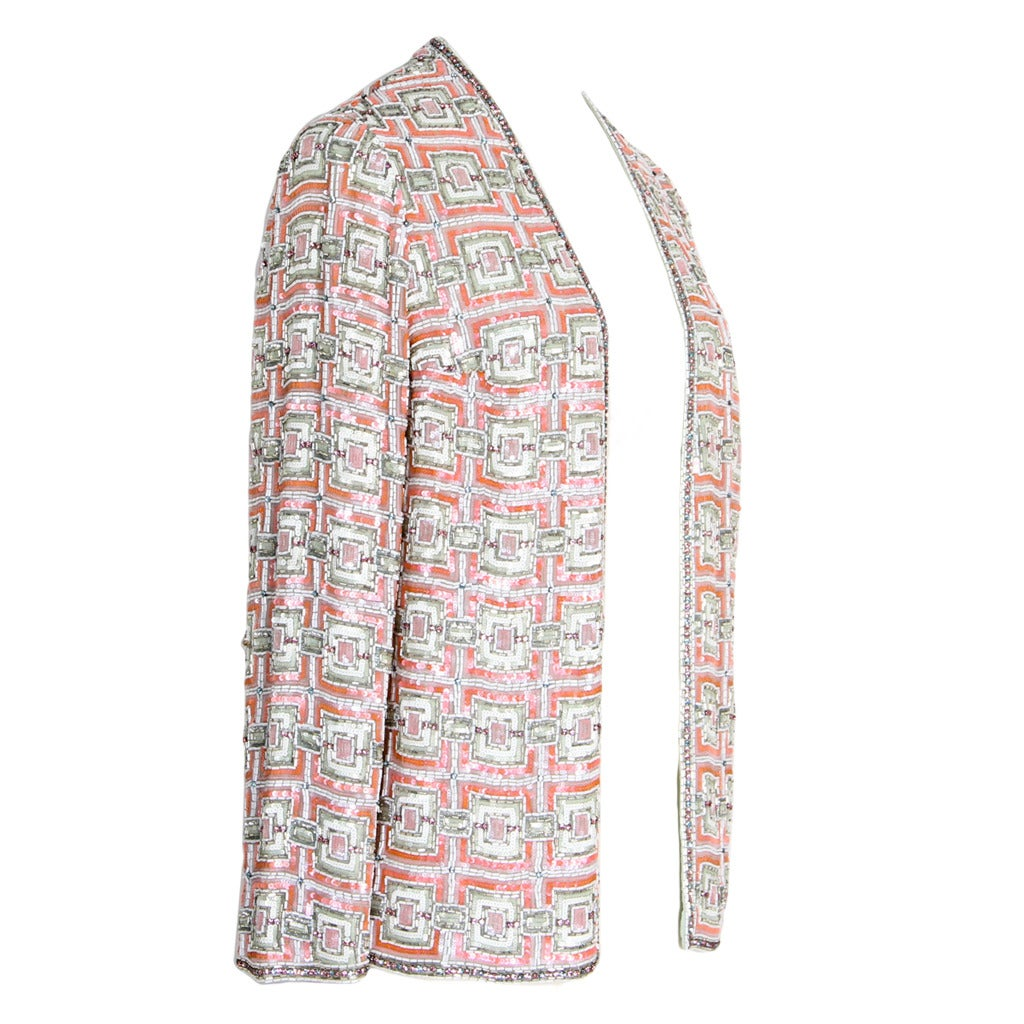 Gorgeous chanel haute couture jacket at 1stdibs for Haute couture jacket