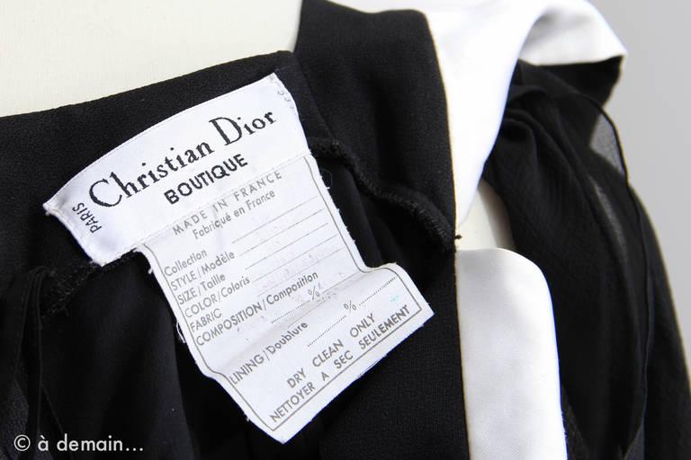 Christian Dior Boutique Paris Evening Dress 8