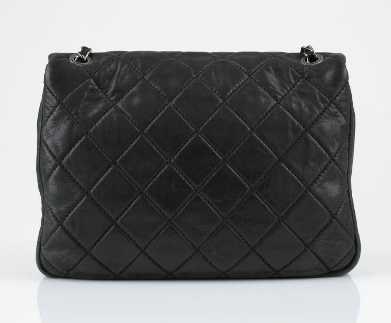 "New CHANEL Black Lagerfeld Calfskin ""IN THE MIX"" Jumbo Double Flap Bag S/S 2012 4"