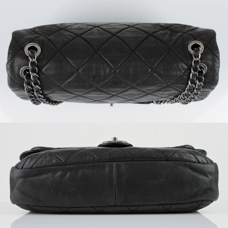 "New CHANEL Black Lagerfeld Calfskin ""IN THE MIX"" Jumbo Double Flap Bag S/S 2012 5"