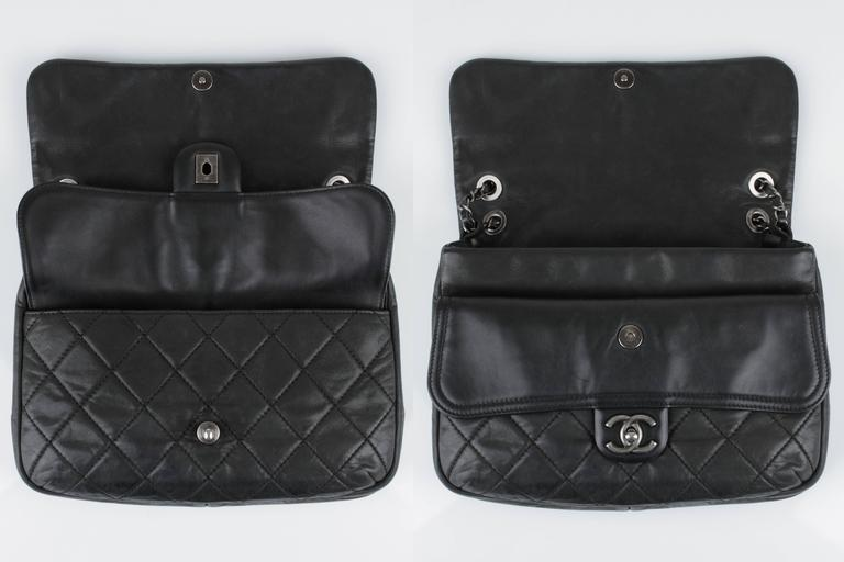 "New CHANEL Black Lagerfeld Calfskin ""IN THE MIX"" Jumbo Double Flap Bag S/S 2012 8"