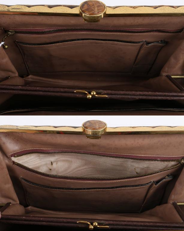 81b0792f24b ... netherlands vtg hermes 1930s genuine alligator crocodile croc handbag  purse rare for sale 4 ea510 be7f5