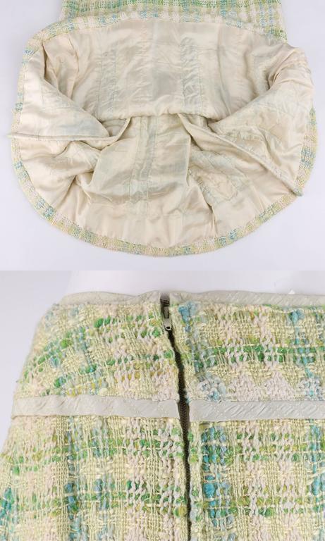 CHANEL Boutique S/S 1984 2 Pc Classic Tweed Blazer Jacket Skirt Suit Set 40 / 46 9